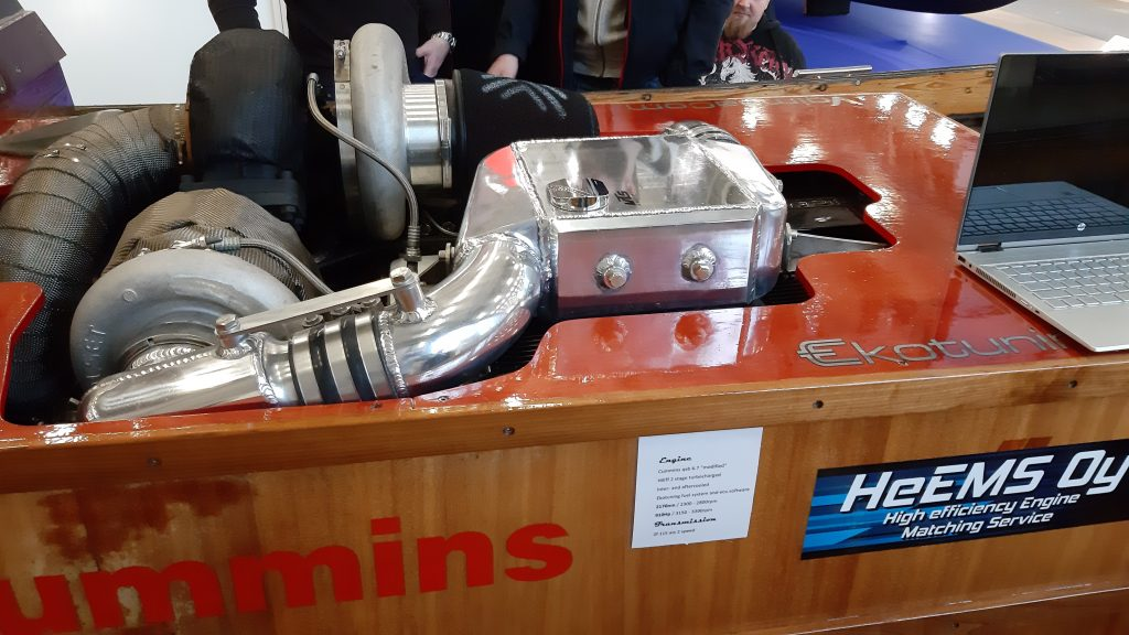 Clean and polished engine bed by VTS racing @venemessut2020. HeEMS Oy